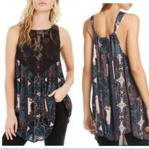 FREE PEOPLE $88 Count Me In Trapeze Dress Black